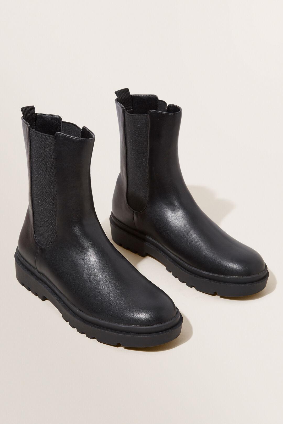 Gusset Combat Boot  BLACK  hi-res
