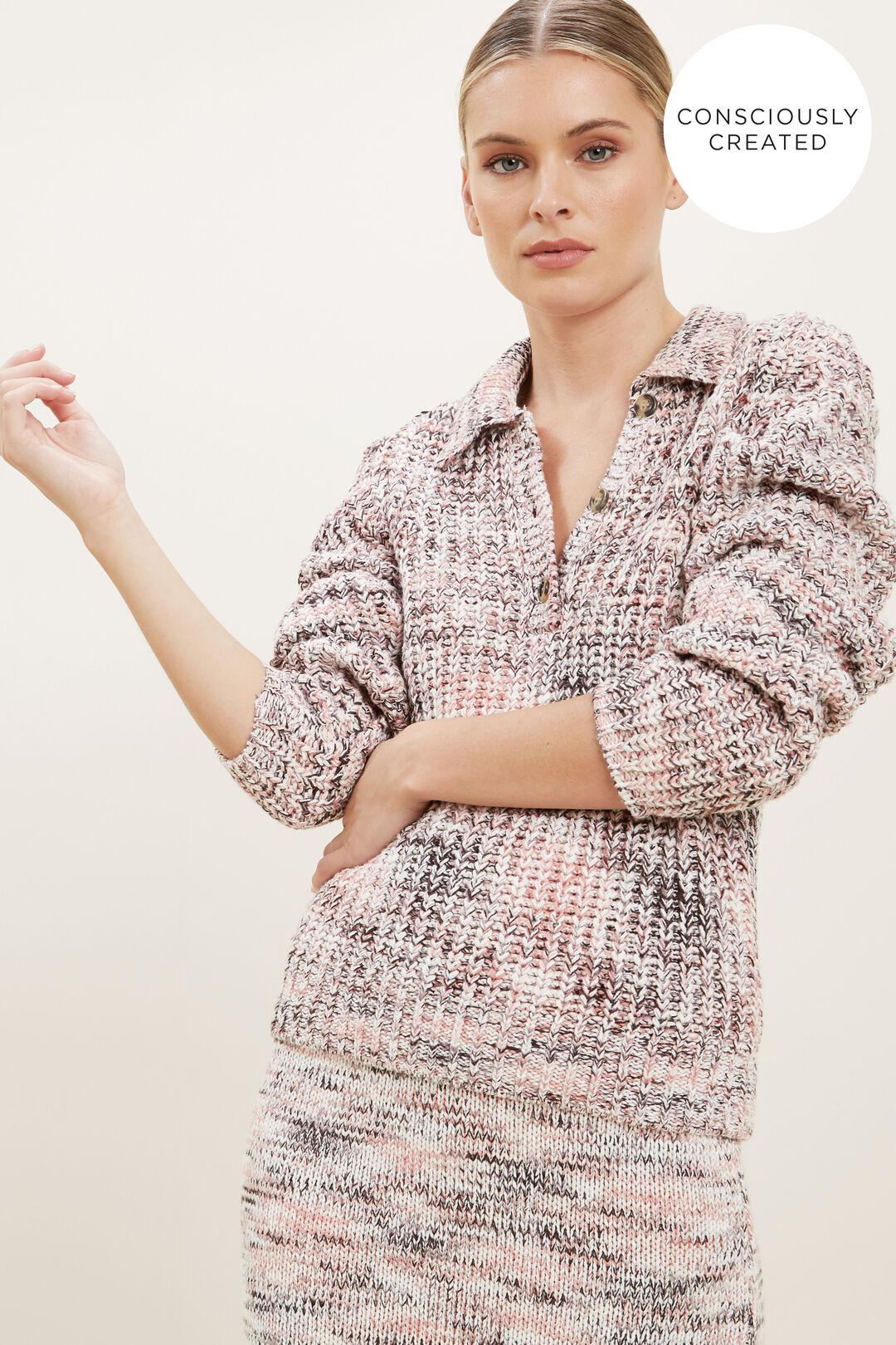 Sustainable Spacedye Knit Sweater  MULTI SPACEDYE  hi-res