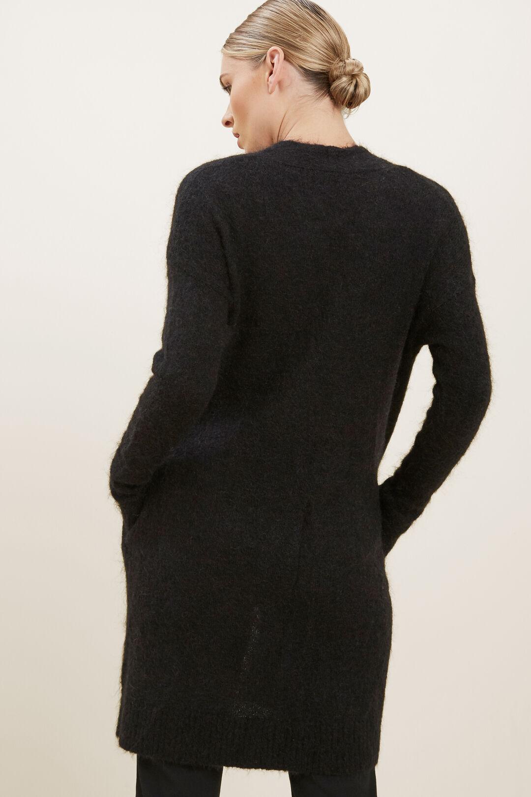 Mohair Blend Cardigan  BLACK  hi-res