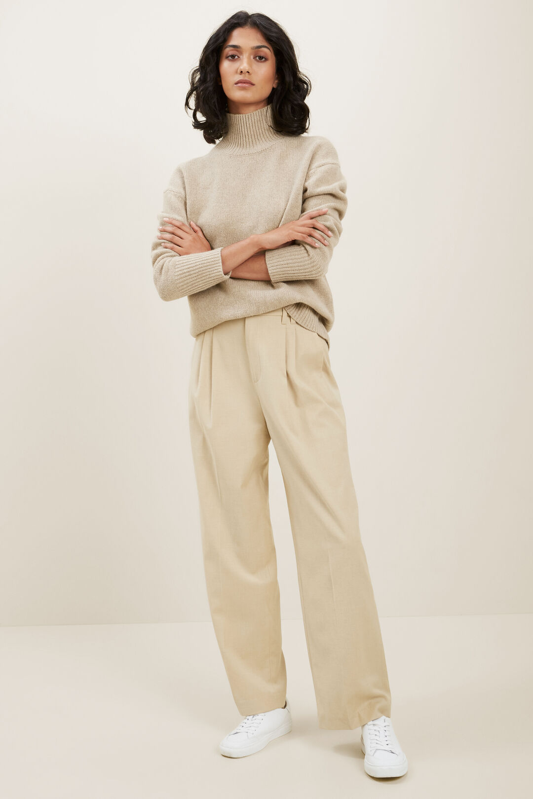 Twill Tailored Pant  CHAMPAGNE BEIGE  hi-res