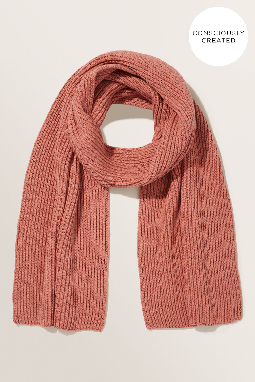 Sustainable Rib Scarf  OLD ROSE  hi-res