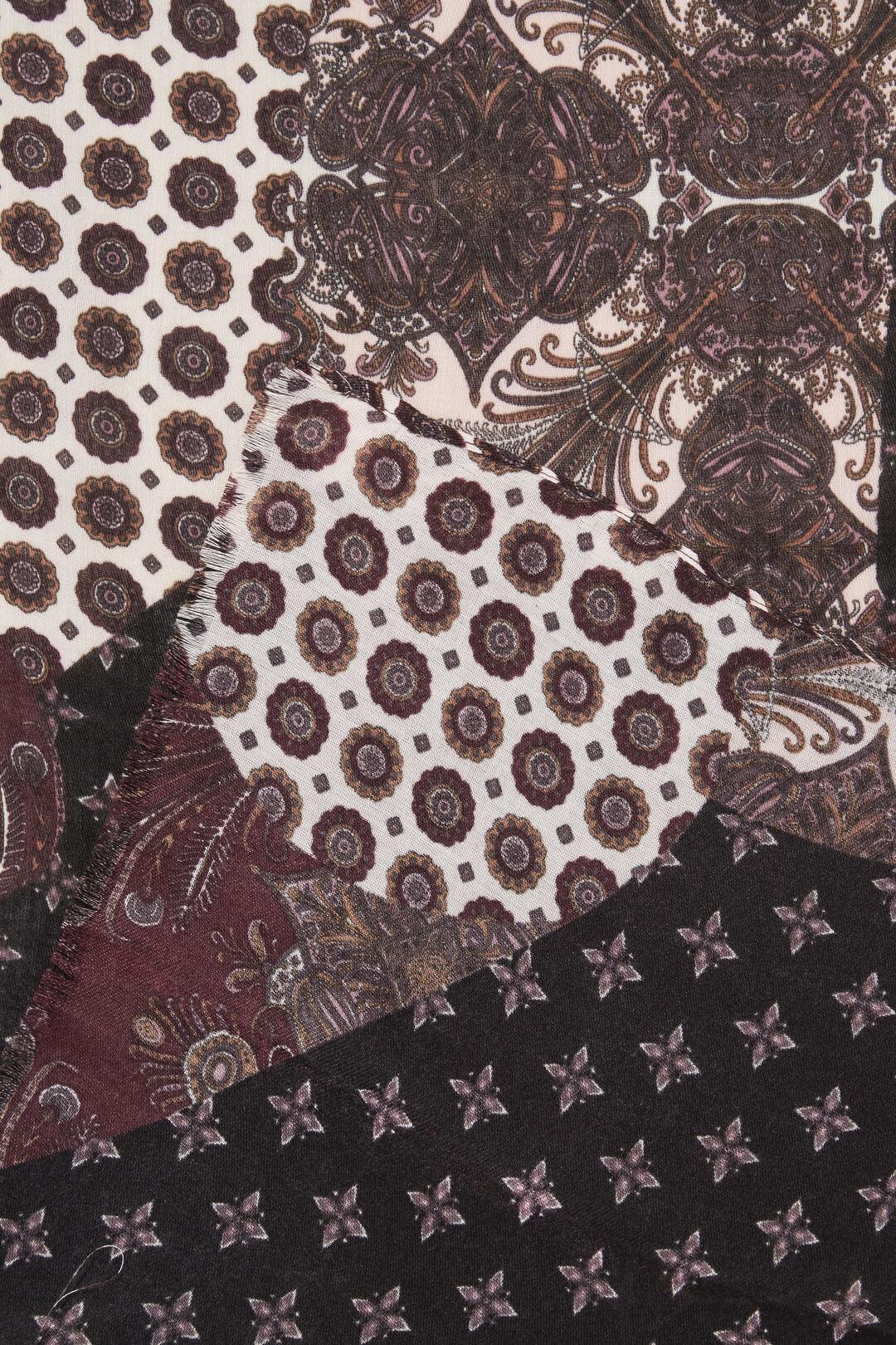 Patternwork Scarf  ASH PINK MULTI  hi-res