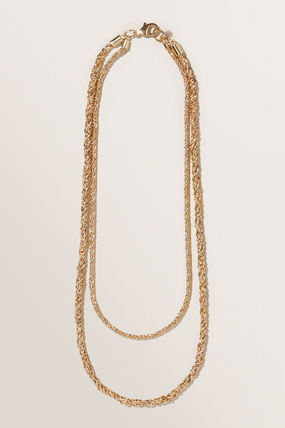 Twisted Chain Necklace  GOLD  hi-res