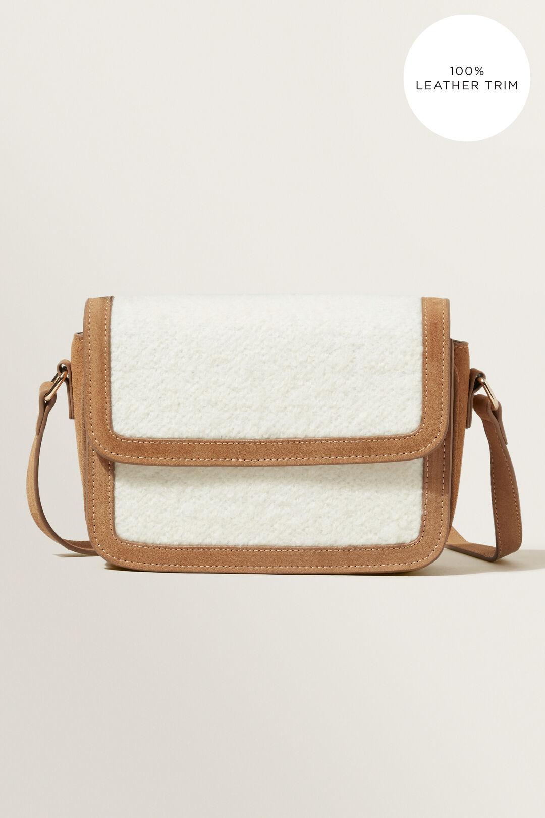 Shearling Cross Body Bag  HONEY DEW CREAM  hi-res