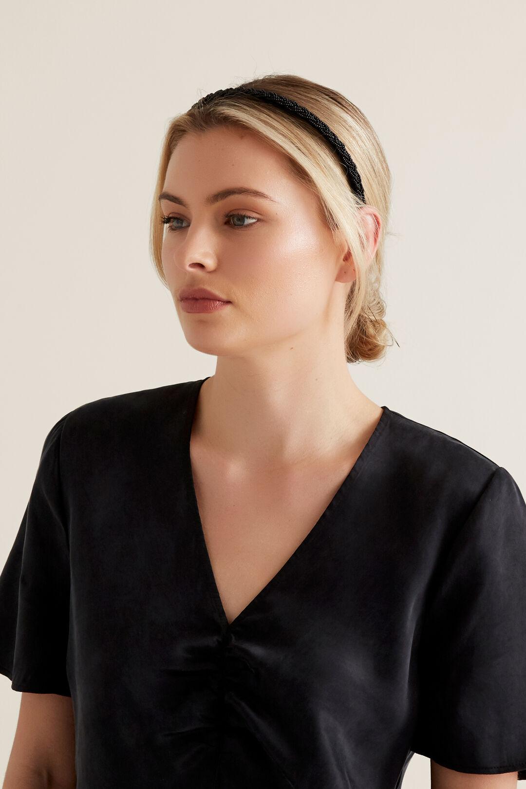 Bead Headband  BLACK  hi-res