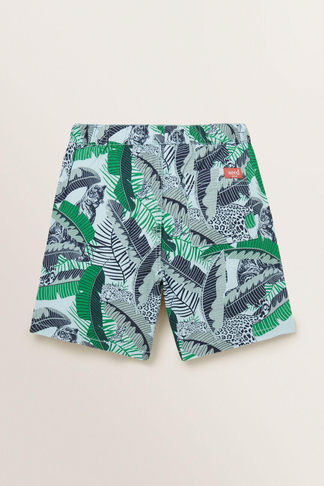 Jungle Leaf Short  SEAFOAM  hi-res