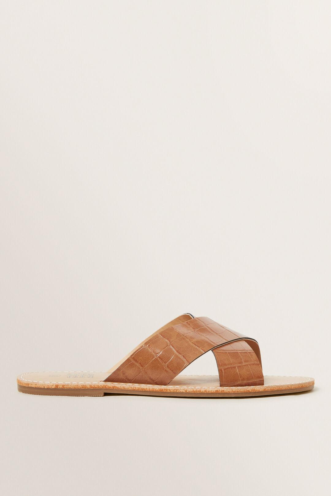 Tan Croc Slide  TAN  hi-res