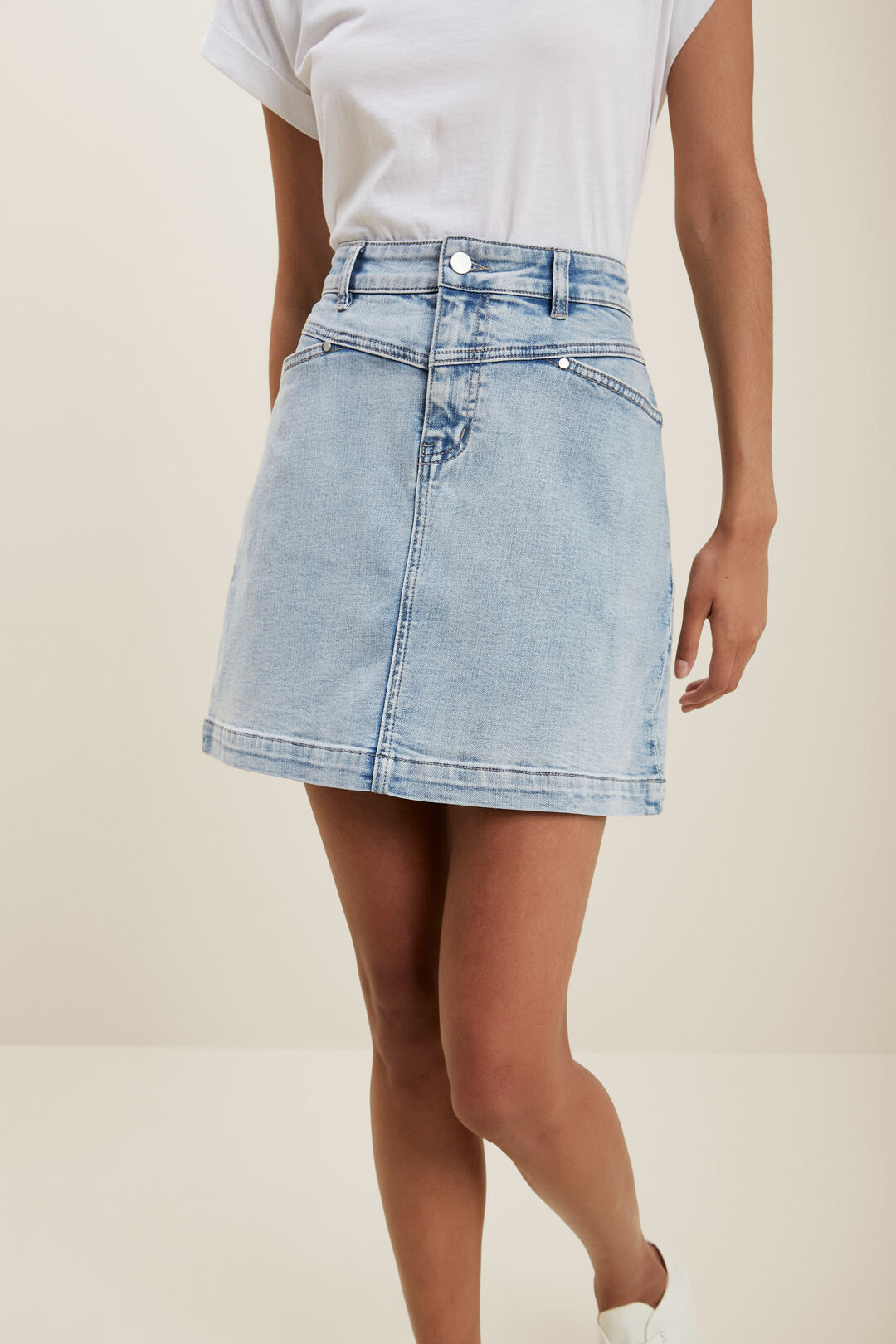 Denim Mini Skirt  LIGHT SKY DENIM  hi-res