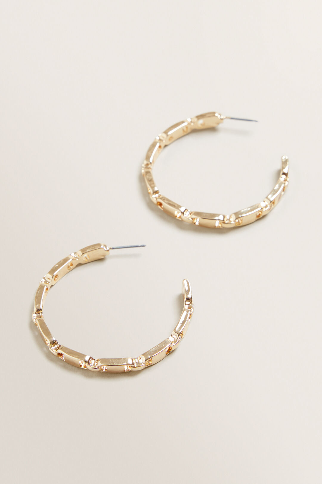 Chain Hoops  GOLD  hi-res