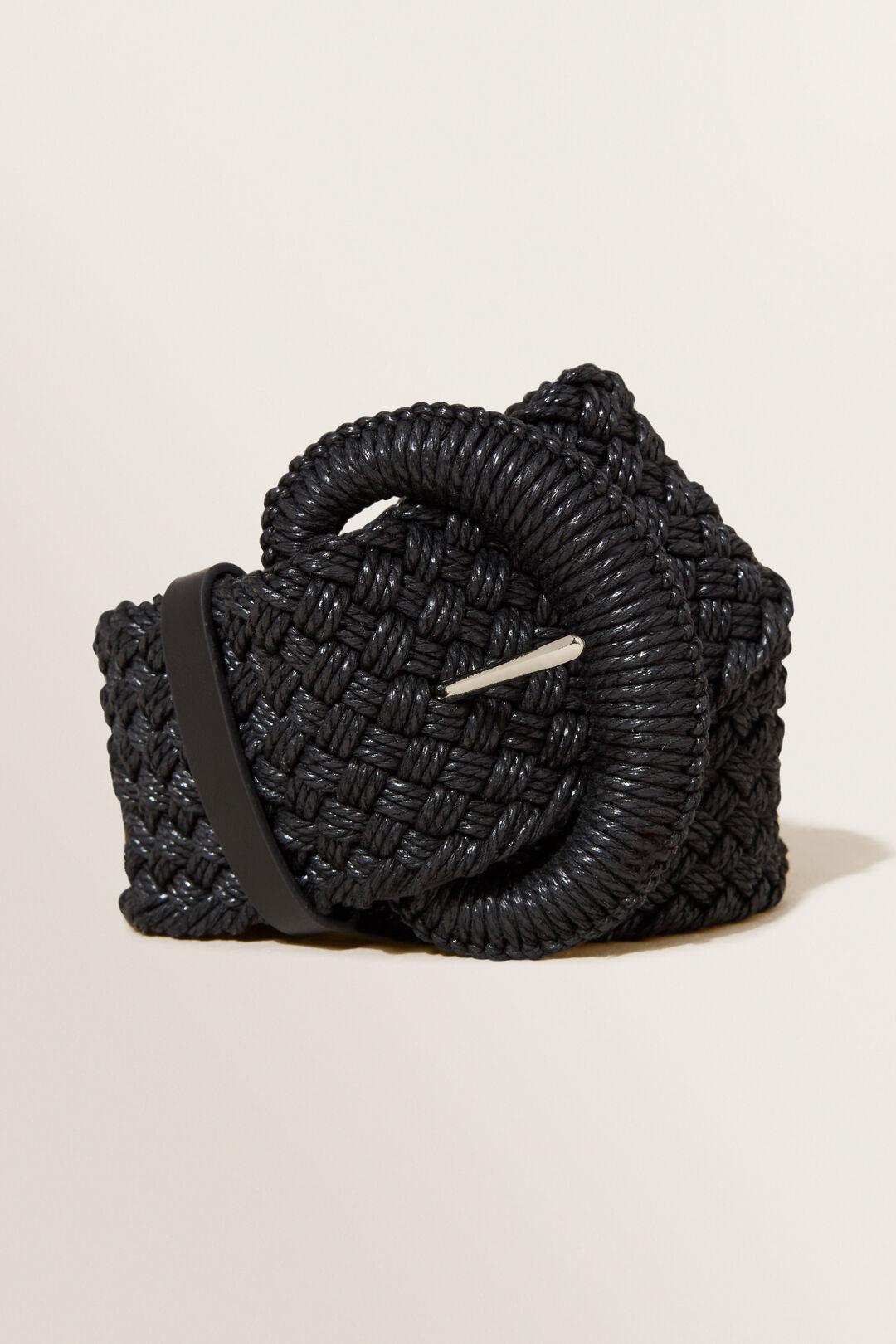 Weave Waist Belt  BLACK  hi-res