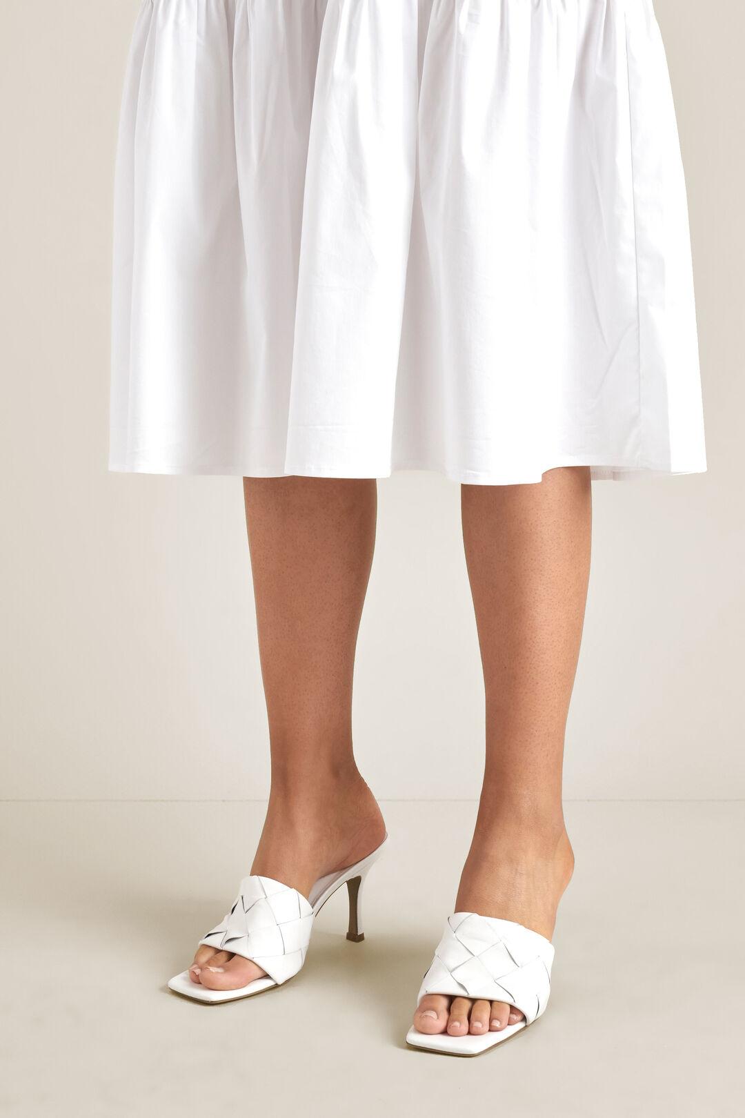Tash Woven Heel  WHITE  hi-res