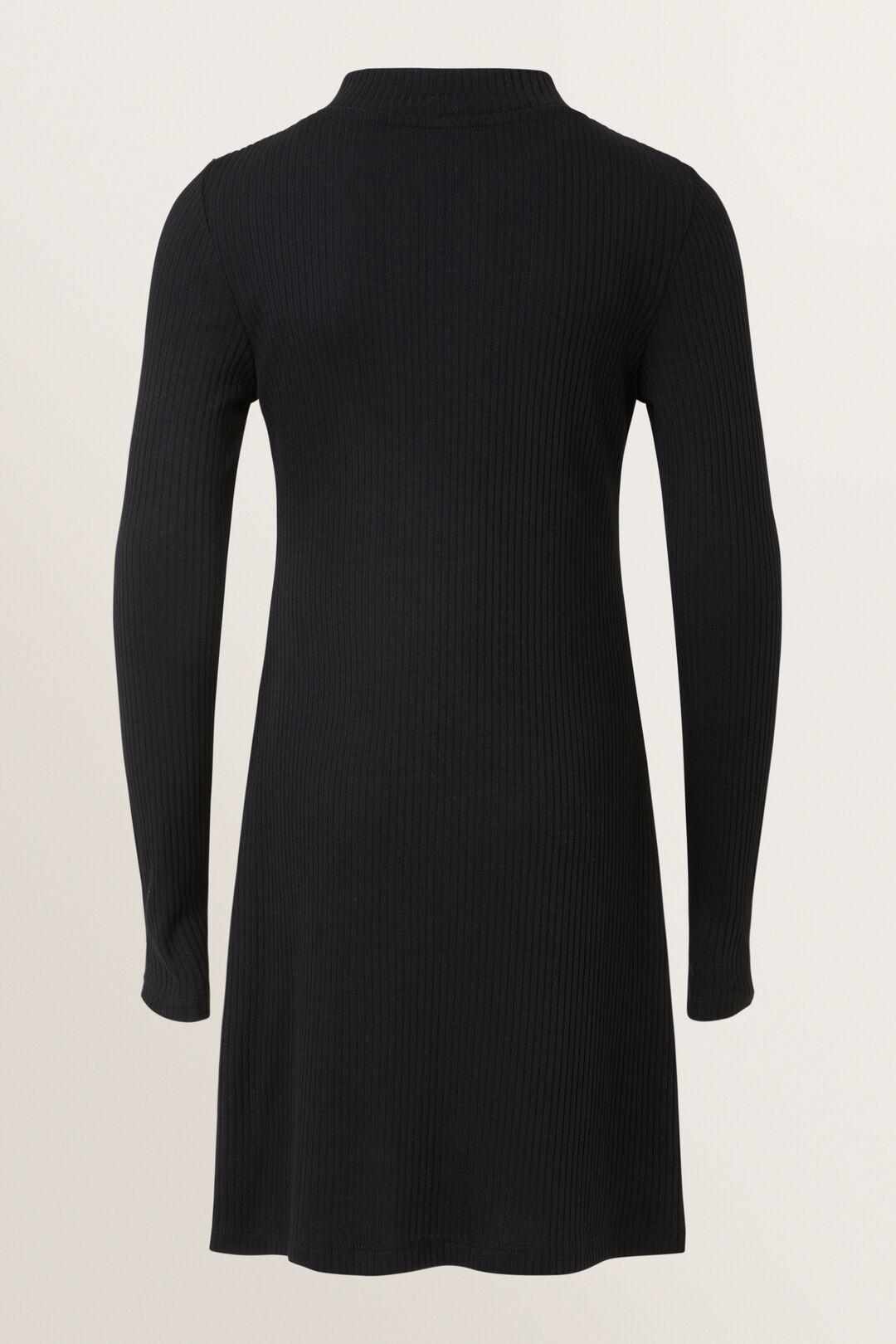 Rib Dress  BLACK  hi-res