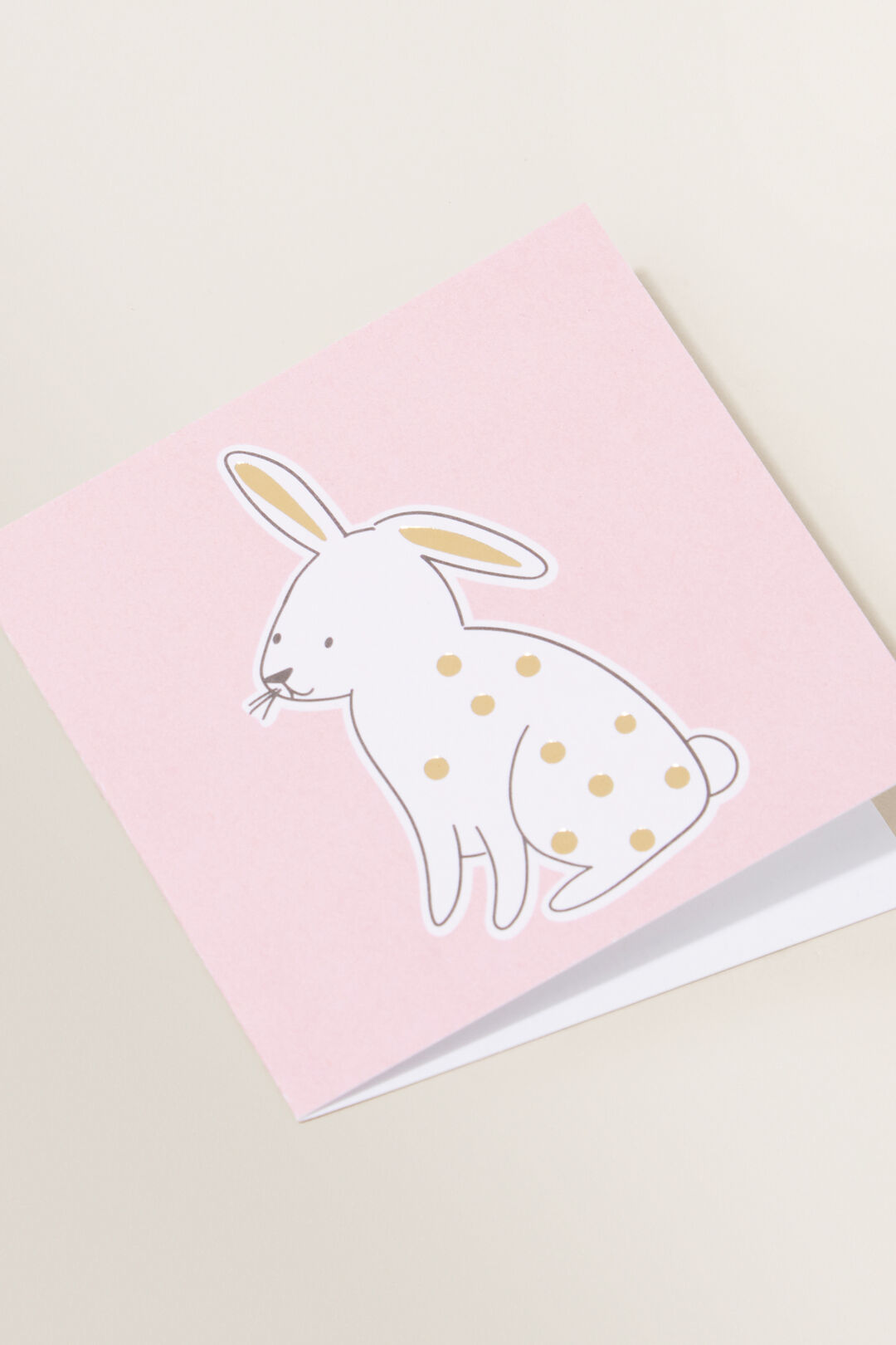 Small Spot Bunny Card  MULTI  hi-res
