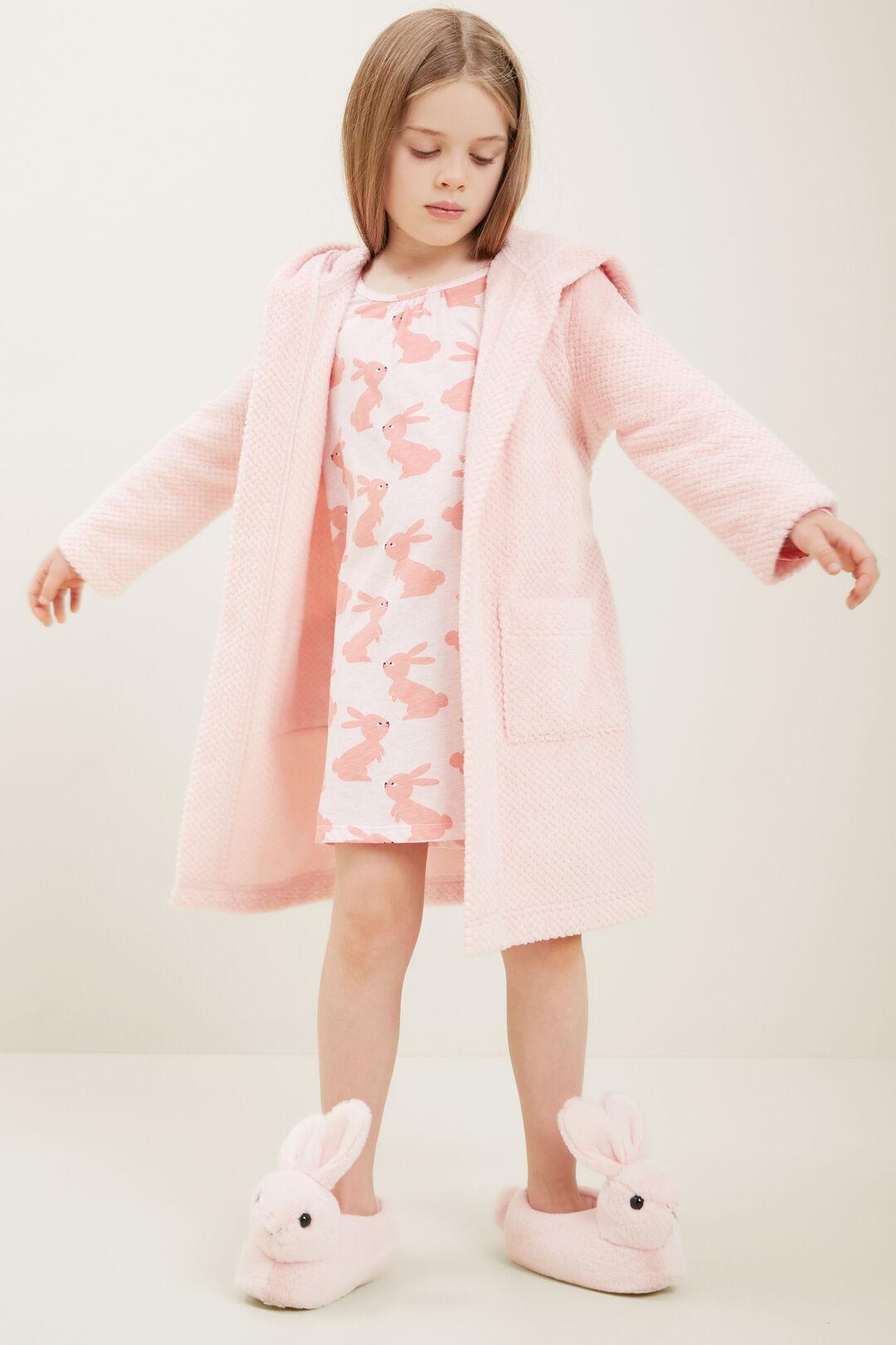 Fluffy Robe  DUSTY ROSE  hi-res