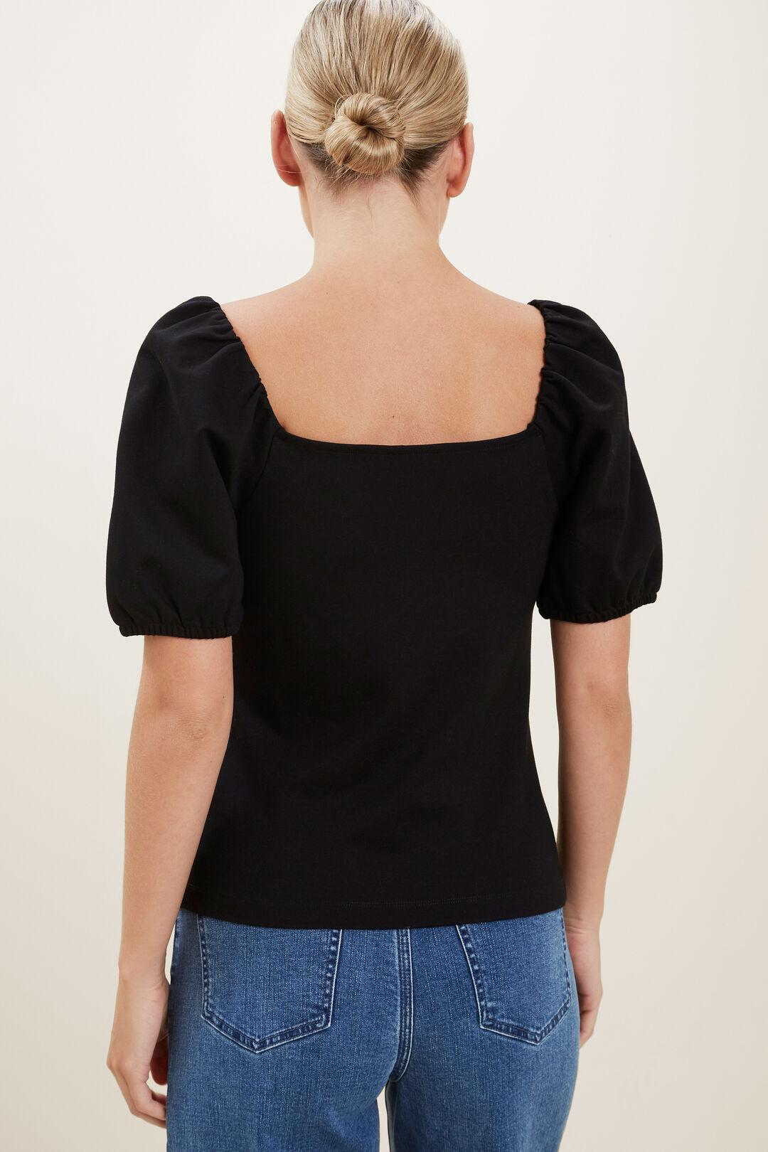 Puff Sleeve Top  BLACK  hi-res
