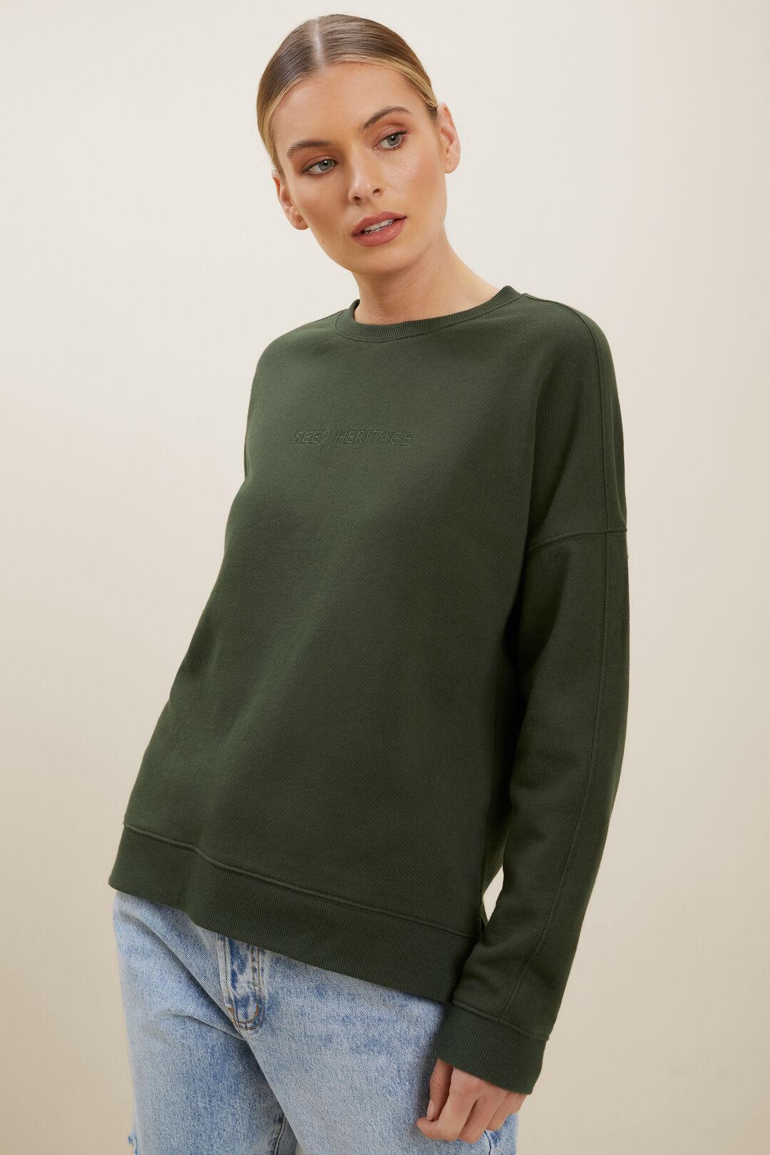 Heritage Logo Sweater  BASIL  hi-res