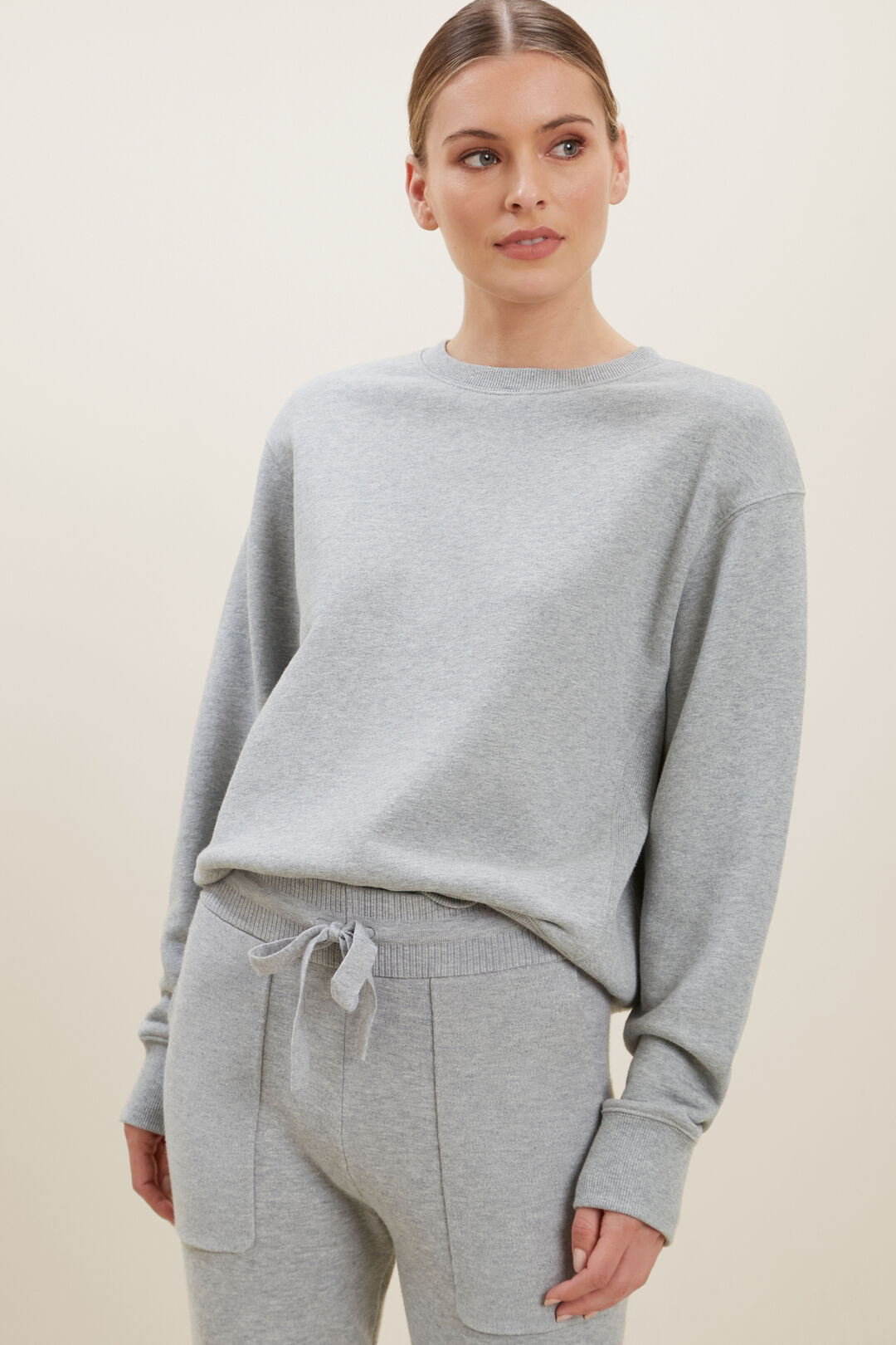 Relaxed 80s Sweater  DIM GREY MARLE  hi-res