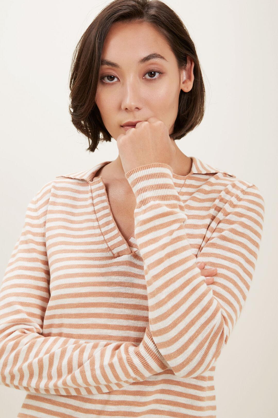 Stripe Knit Polo  PERU STRIPE  hi-res