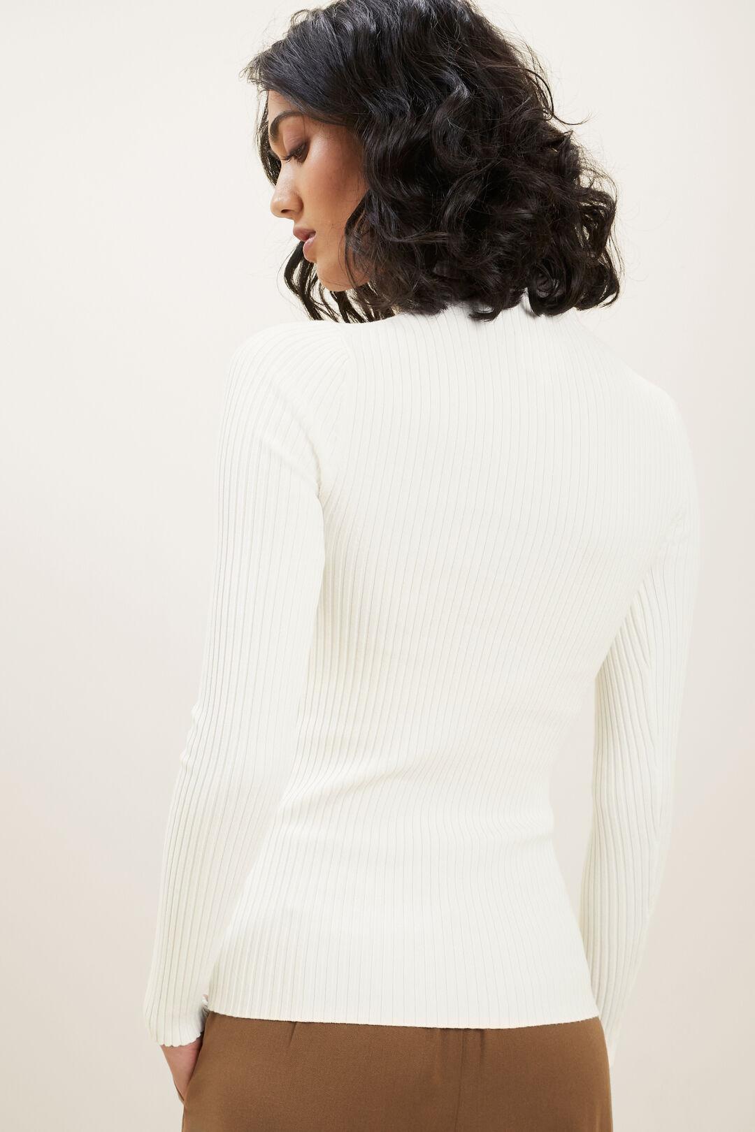 Fitted Rib Sweater  CLOUD CREAM  hi-res