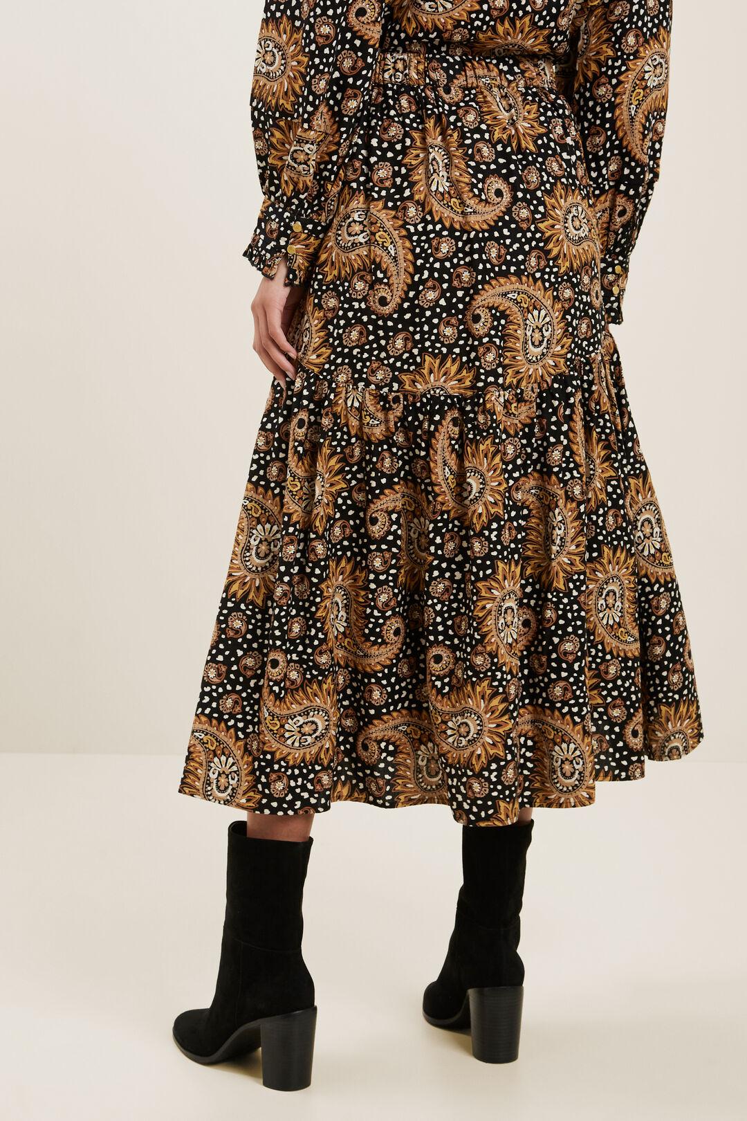 Paisley Tiered Skirt  PAISLEY  hi-res