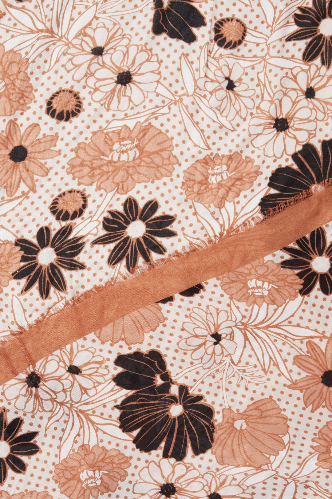 Vintage Floral Scarf  PERU  hi-res