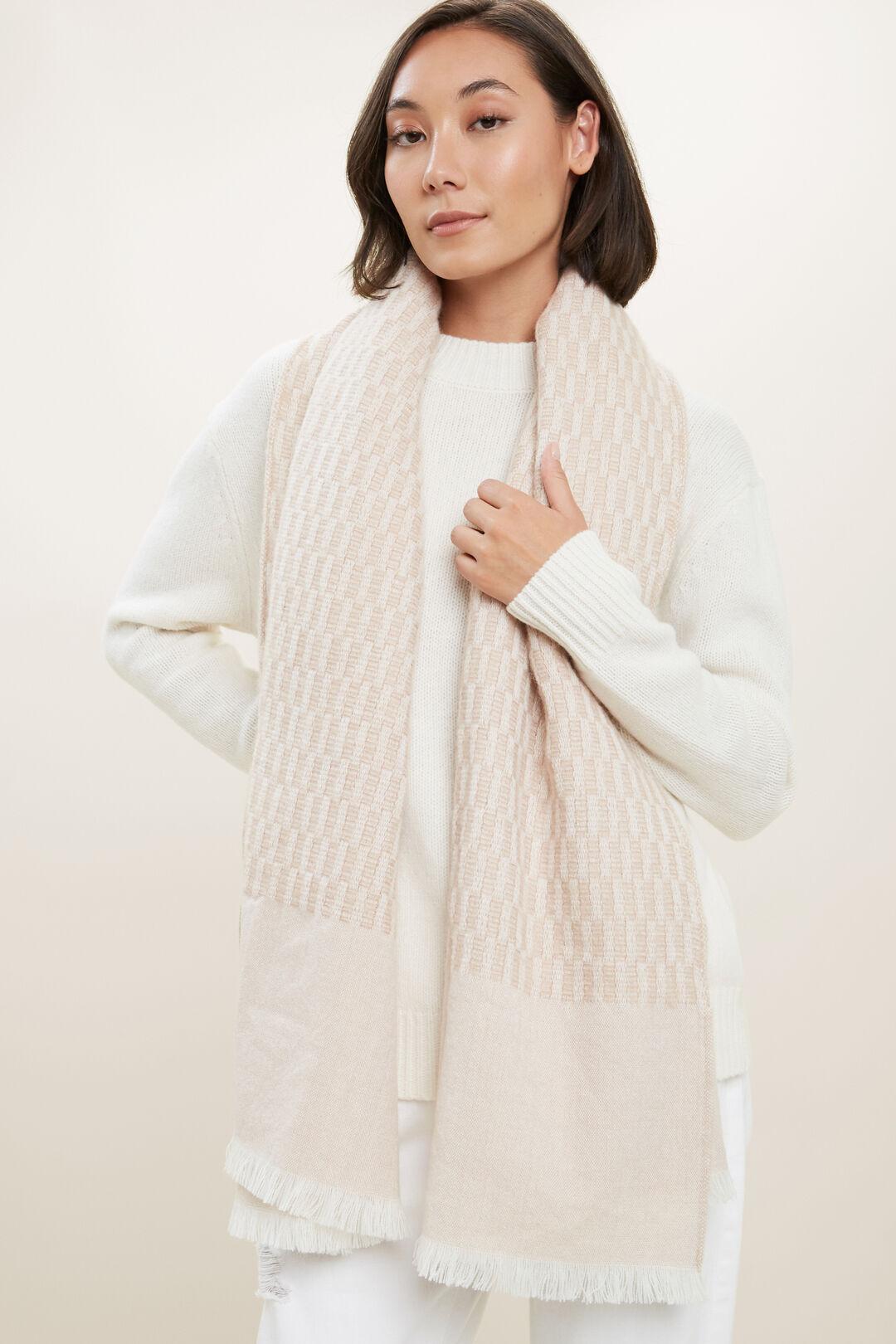 Wool Blend Scarf  CHAMPAGNE BEIGE MLTI  hi-res