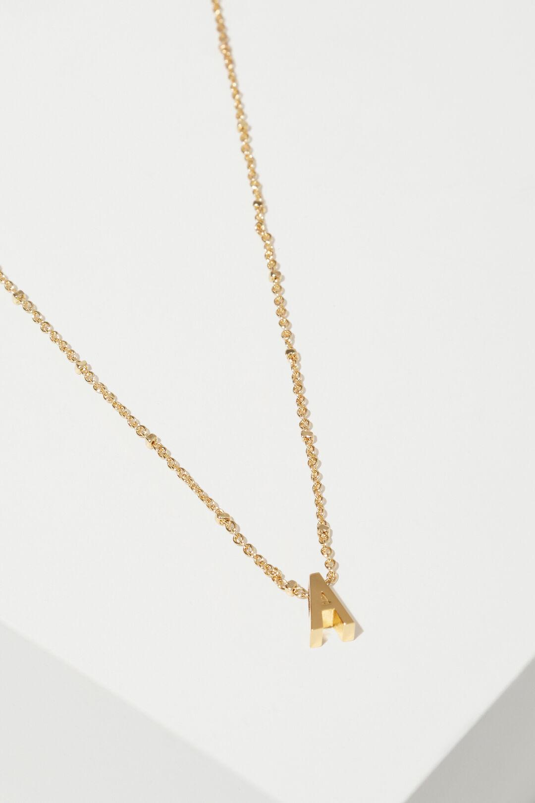 Gold Initial Charm  A  hi-res