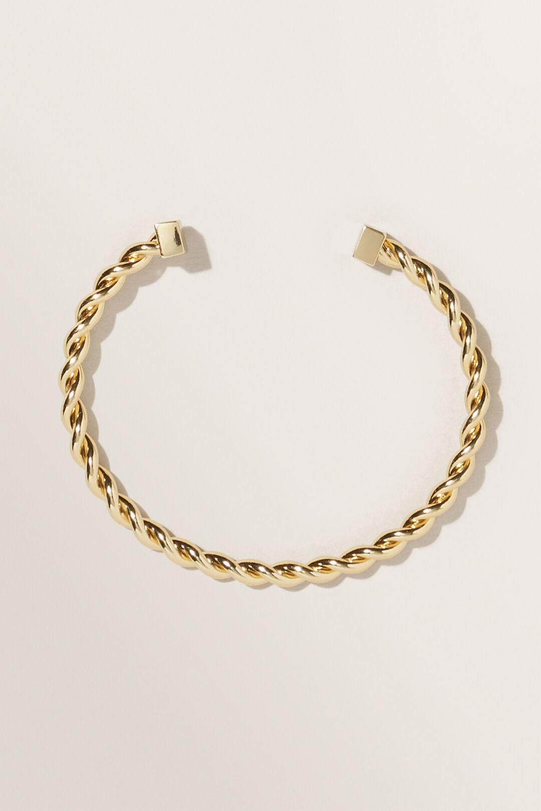 Fine Twisted Cuff  GOLD  hi-res