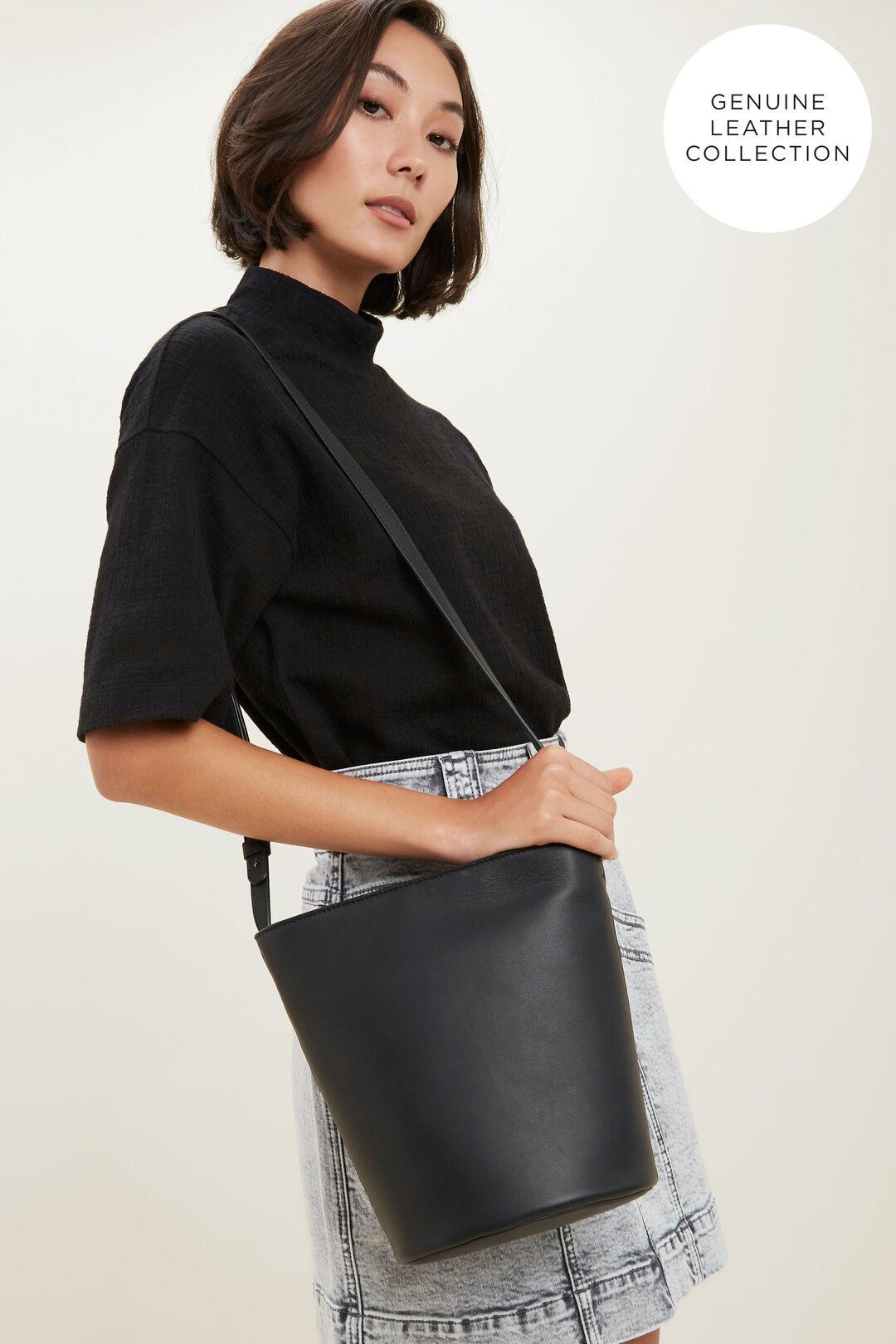 Leather Bucket Bag  BLACK  hi-res