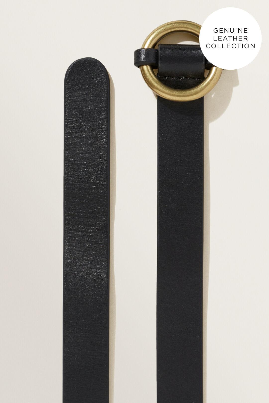 Ring Leather Belt  BLACK  hi-res