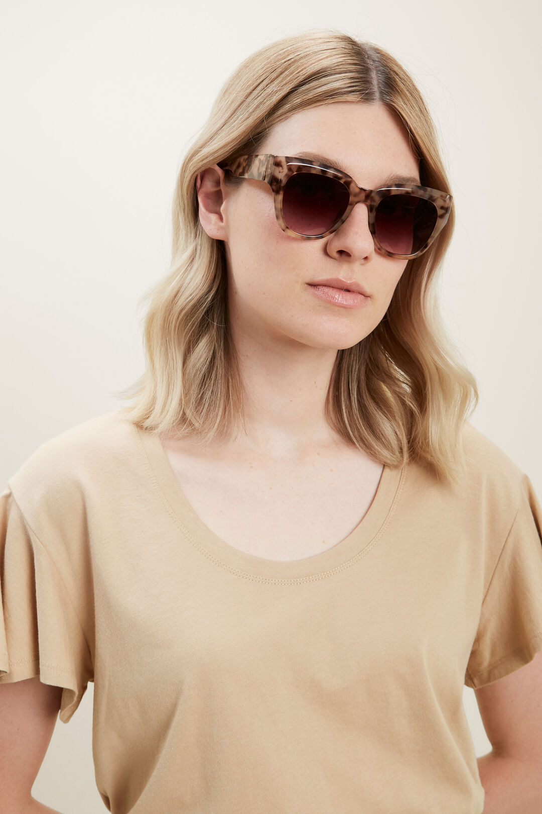 Toni D-Frame Sunglasses  MILKY TORT  hi-res