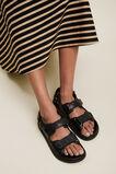 Quilted Footbed  BLACK  hi-res