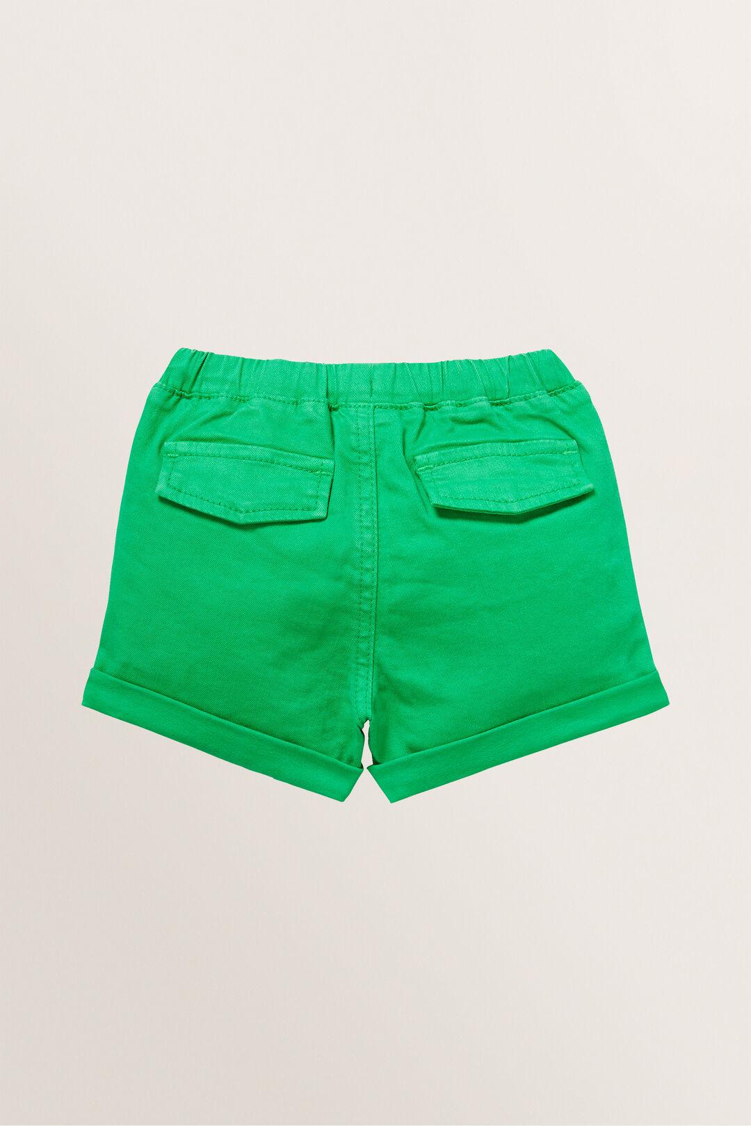 Denim Roll Shorts  RETRO GREEN  hi-res