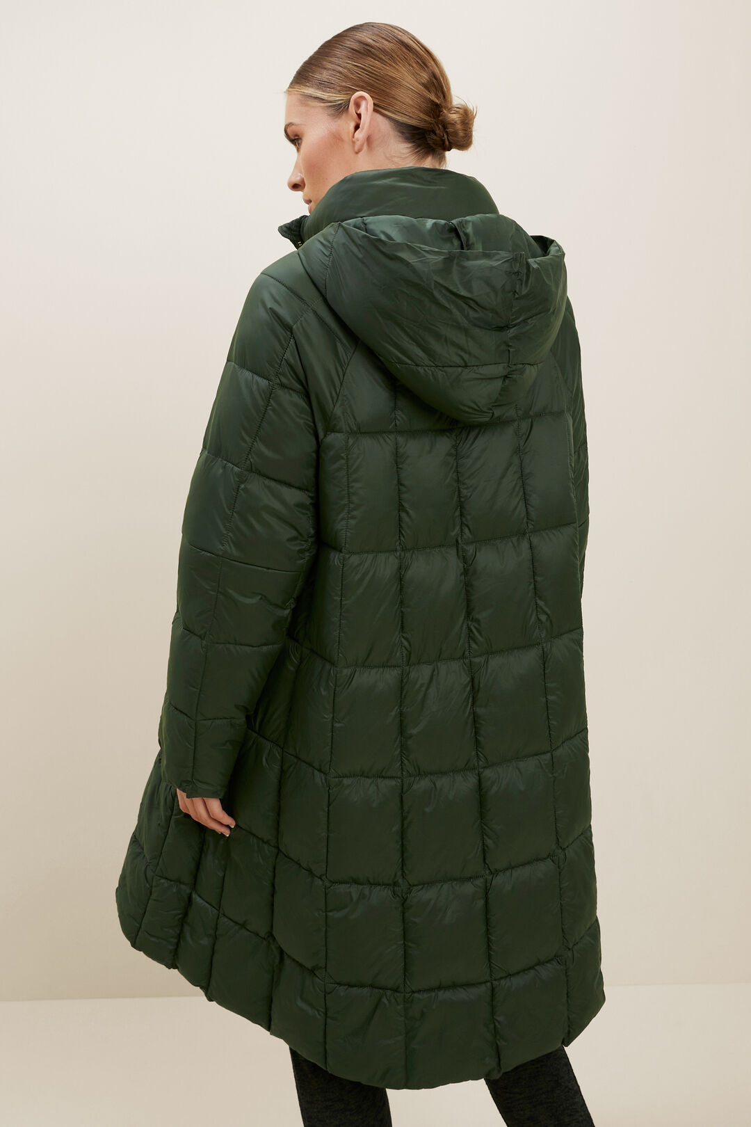 Quilted A-Line Puffer Jacket  BASIL  hi-res