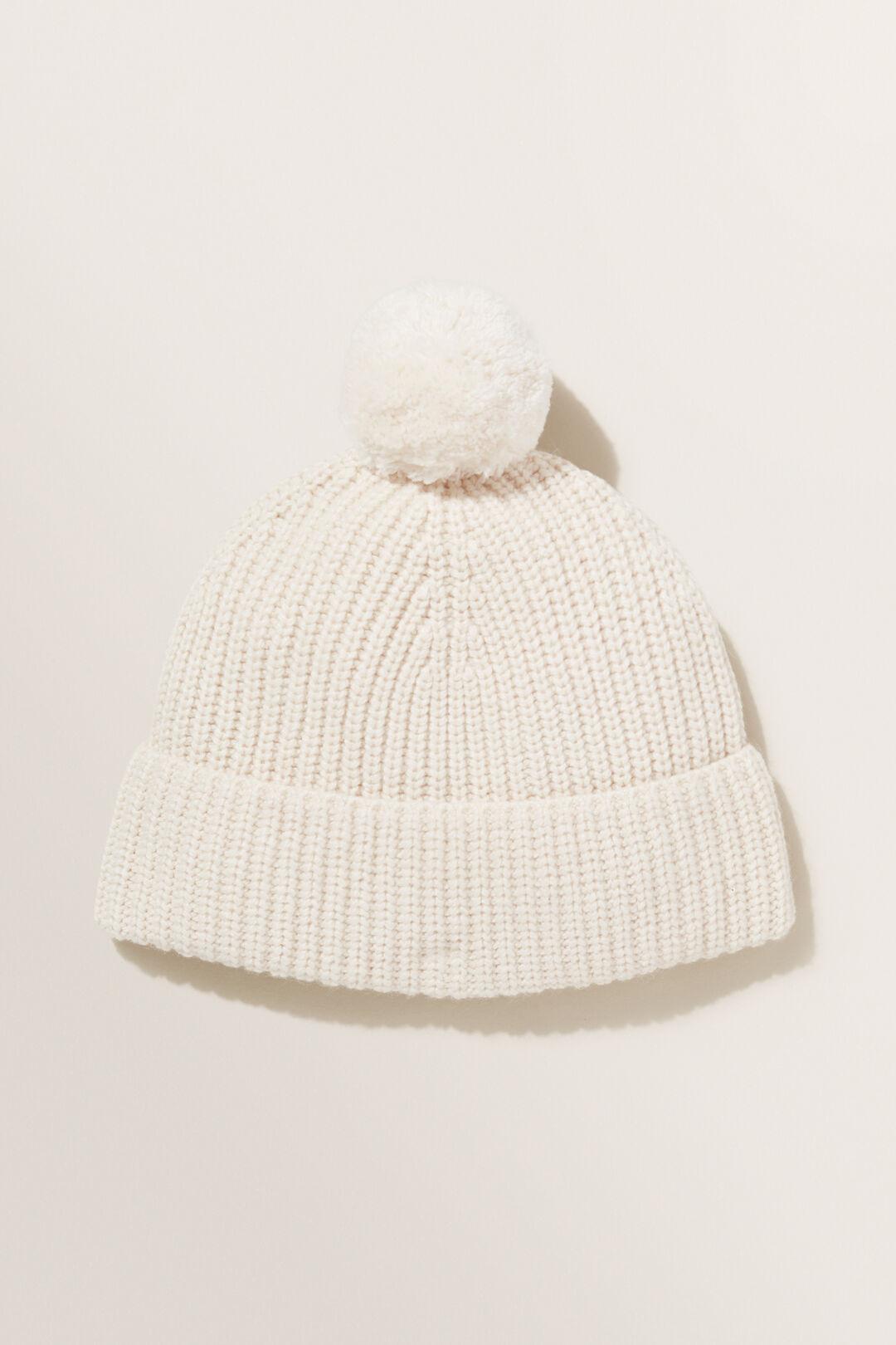 Winter Knit Beanie  VANILLA  hi-res