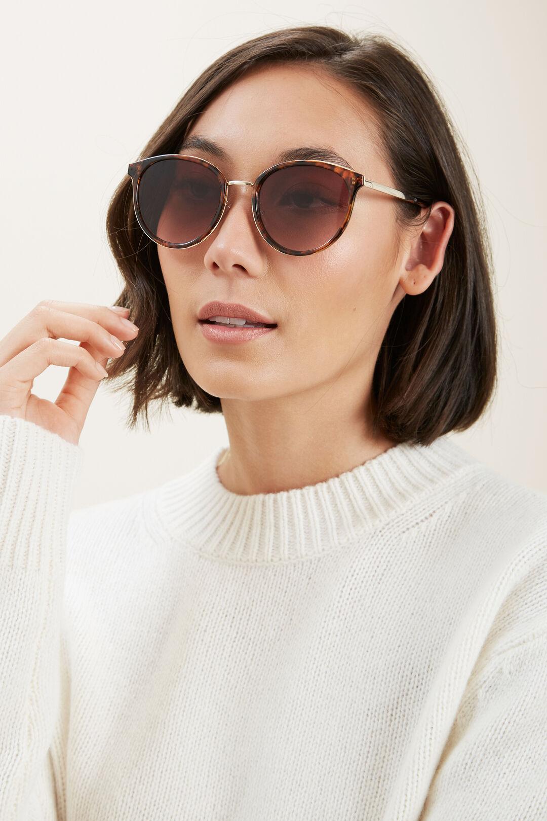 Courtney Metal Sunglasses  AMBER TORT  hi-res