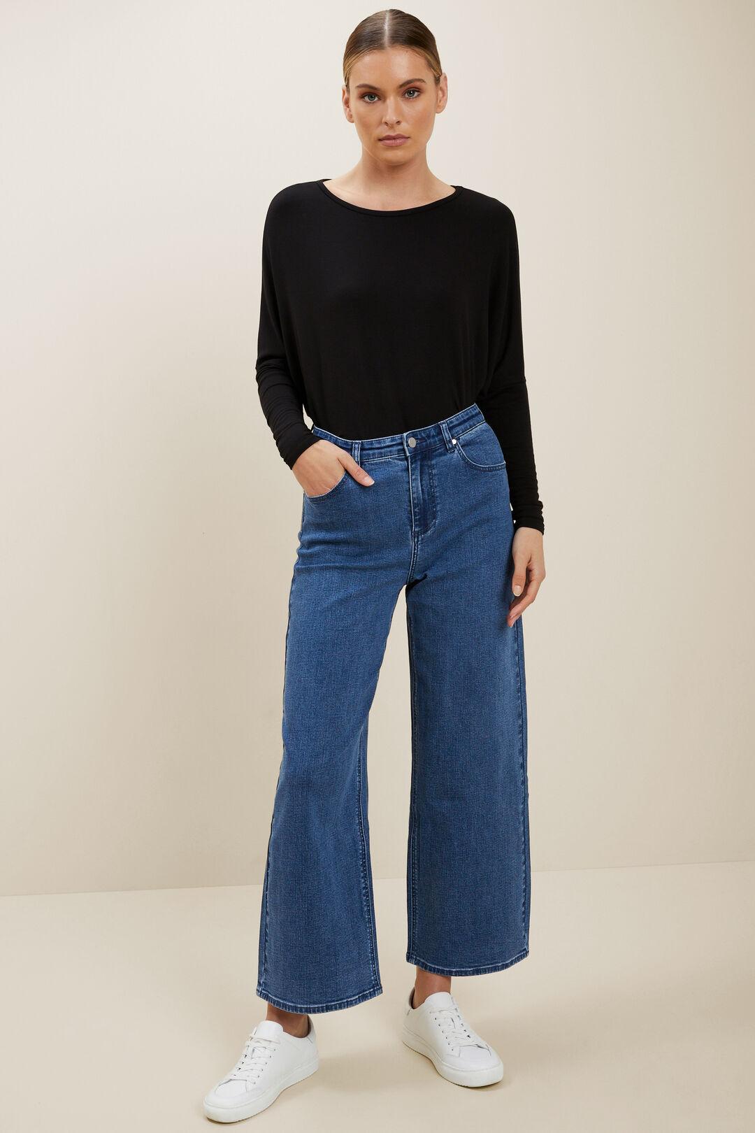 Curve Hem Sweater  BLACK  hi-res