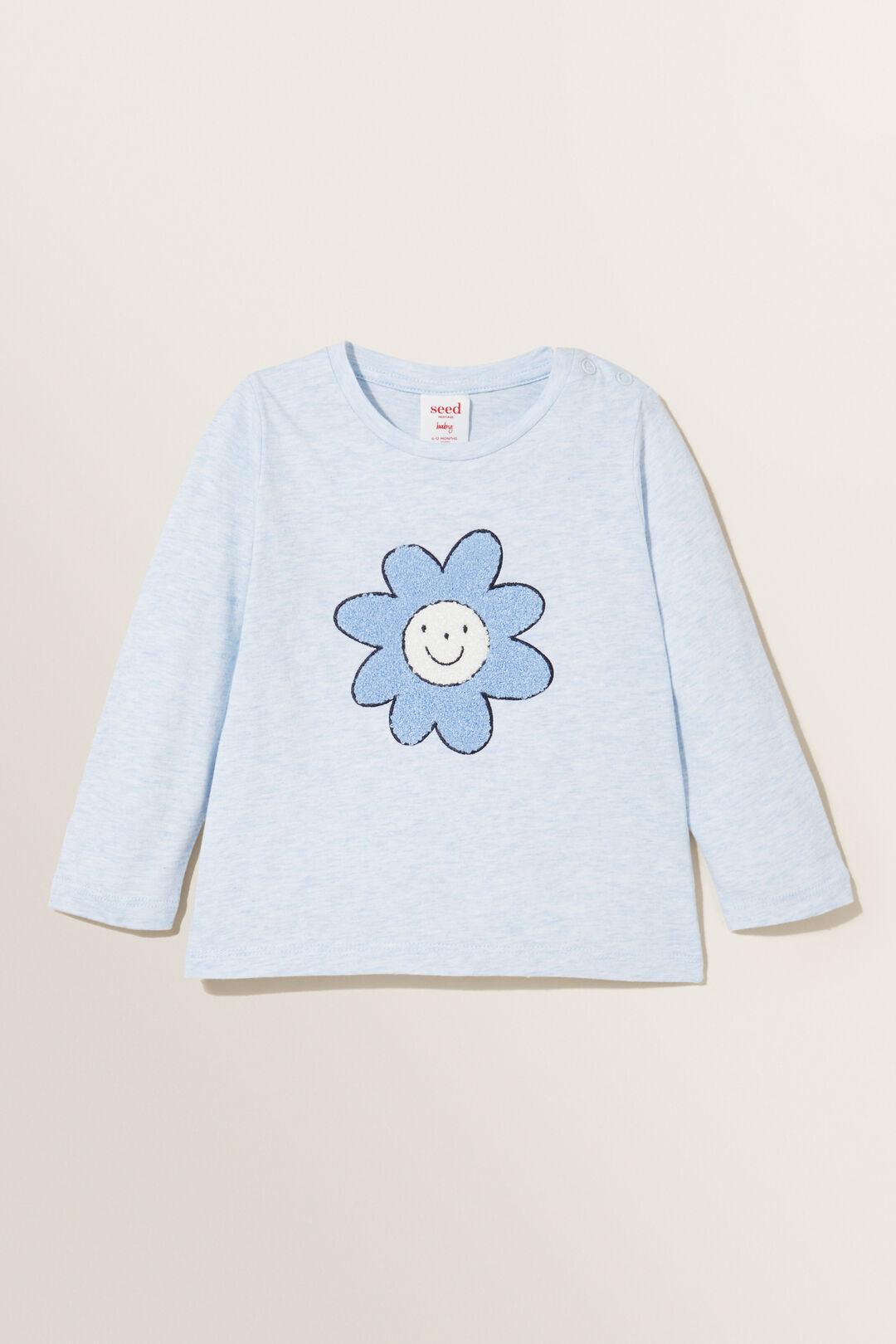 Daisy Long Sleeve Tee  BLUEBELLE MARLE  hi-res