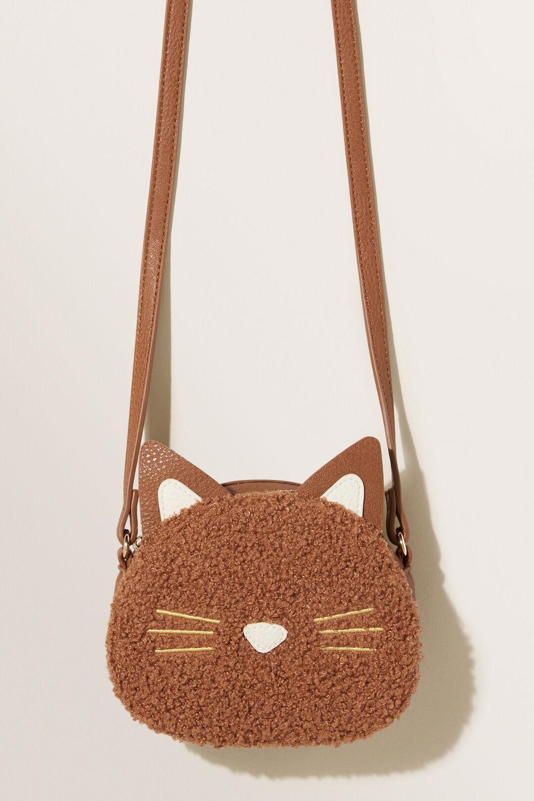 Teddy Fur Cat Bag  DARK BROWN  hi-res