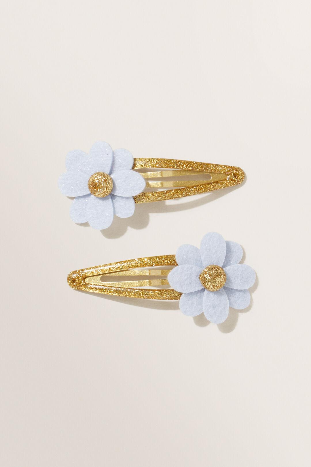 Felt Flower Clips  BABY BLUE  hi-res