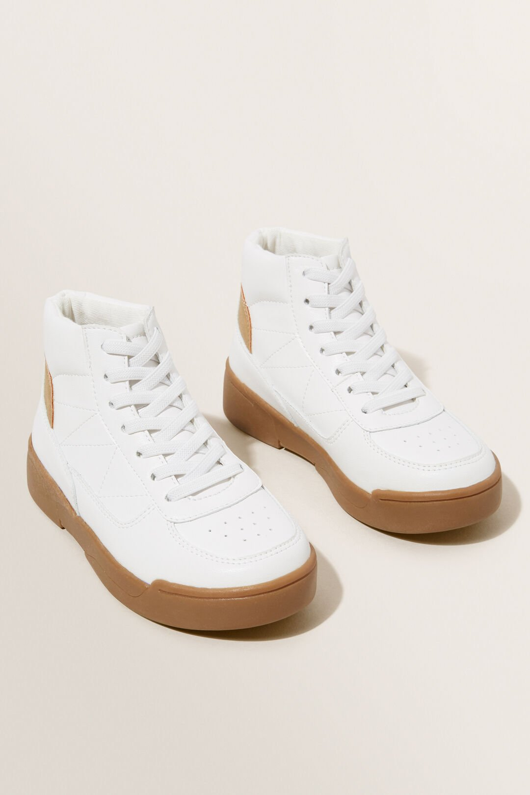 High Top Boot  WHITE  hi-res