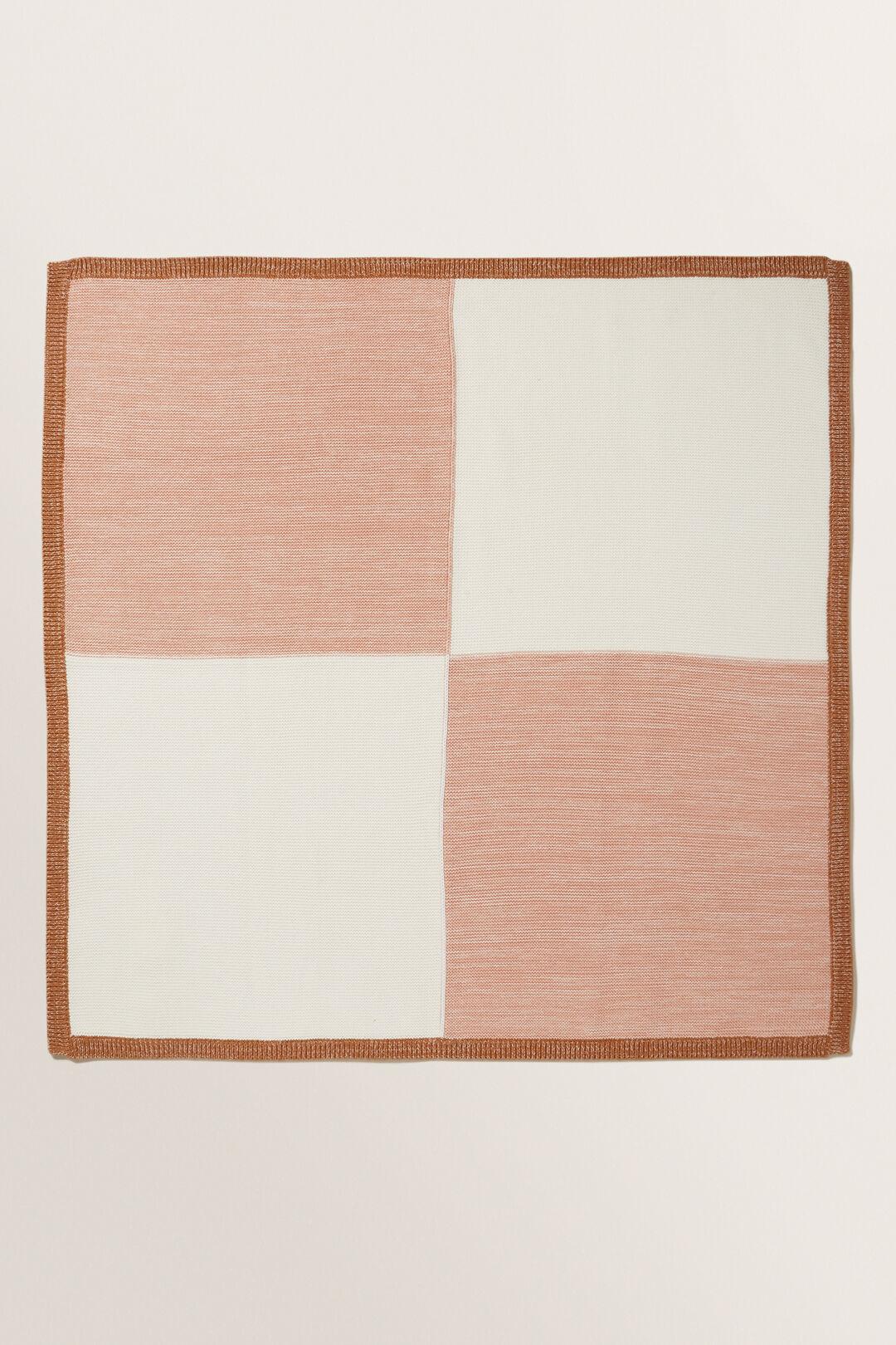 Colour Block Blanket  PINK CLAY  hi-res