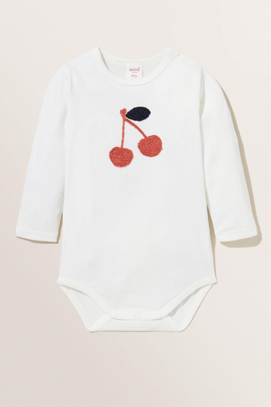 Chenille Cherry Bodysuit  CANVAS  hi-res
