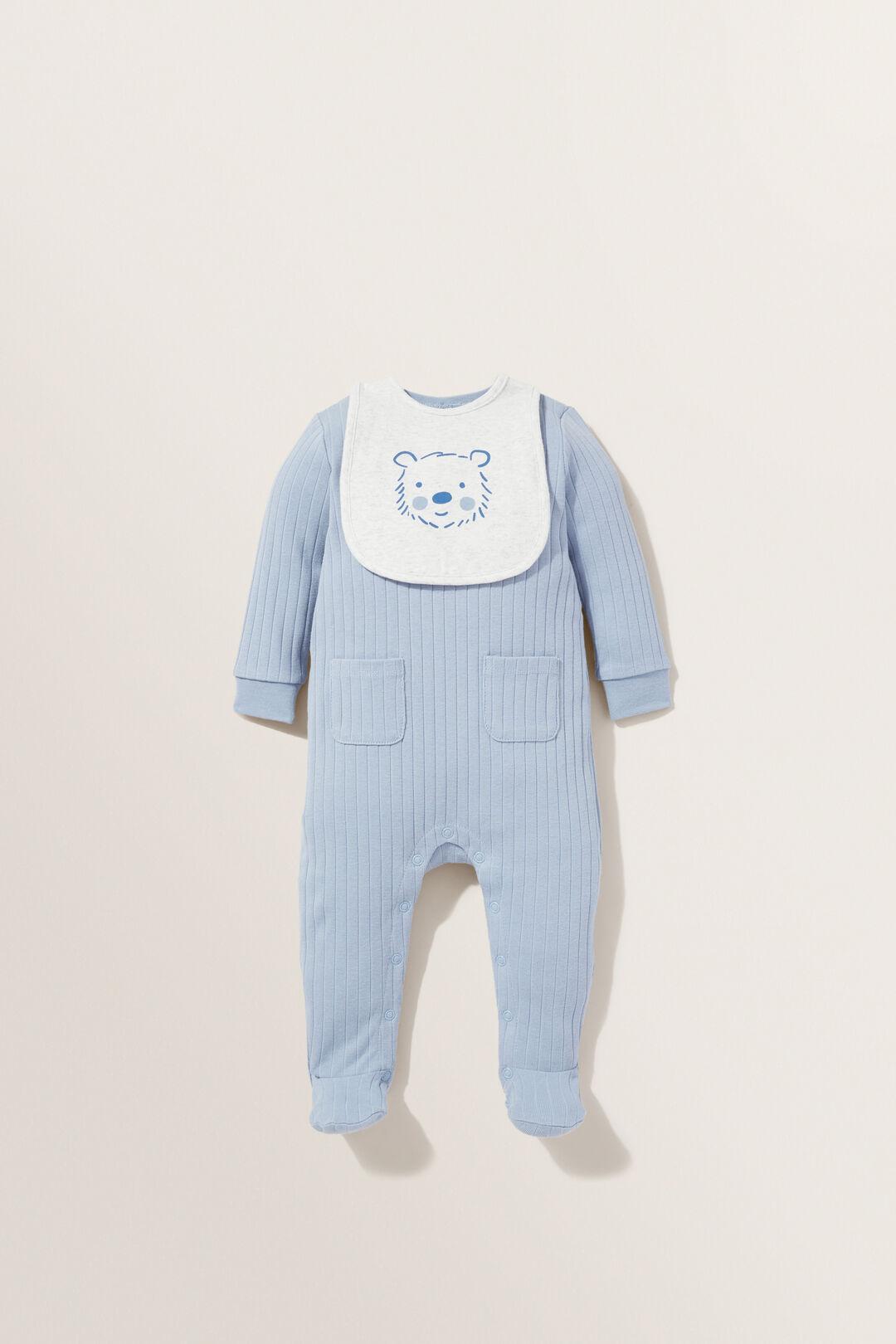 Rib Pocket Jumpsuit  CLOUD BLUE  hi-res