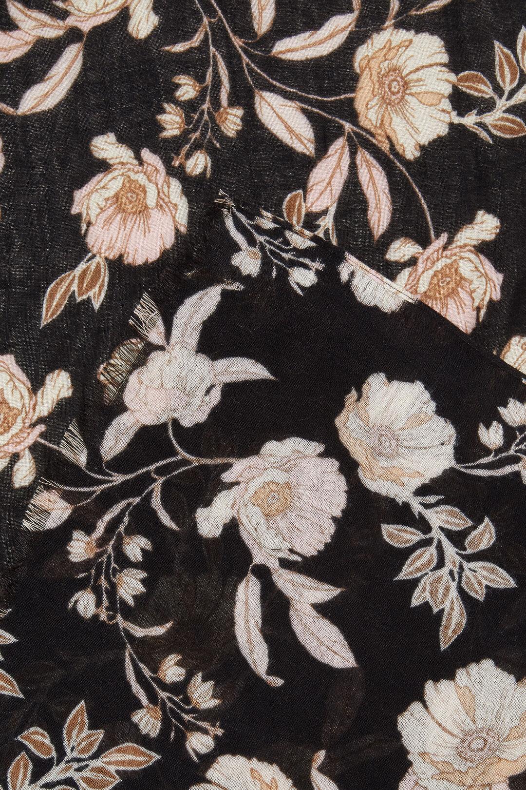 Floral Scarf  BLACK MULTI  hi-res