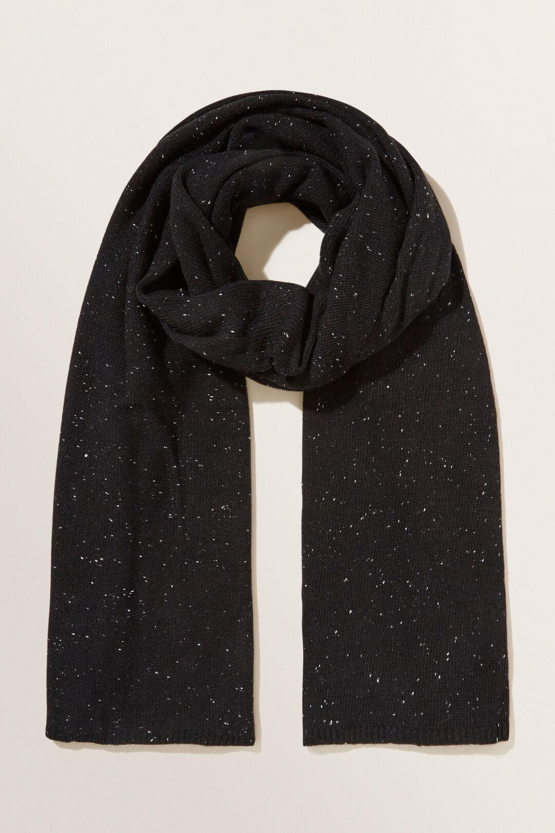 Fleck Knit Wrap  BLACK  hi-res