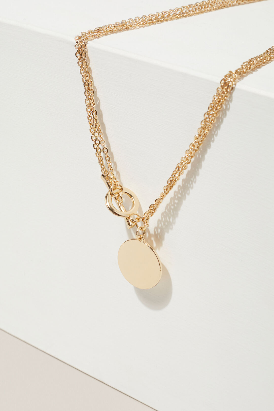 Multi Chain Disc Necklace  GOLD  hi-res