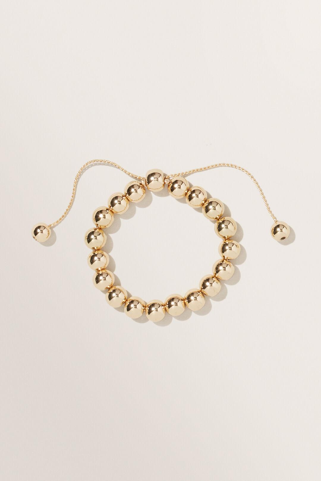Ball Adjustable Bracelet  GOLD  hi-res