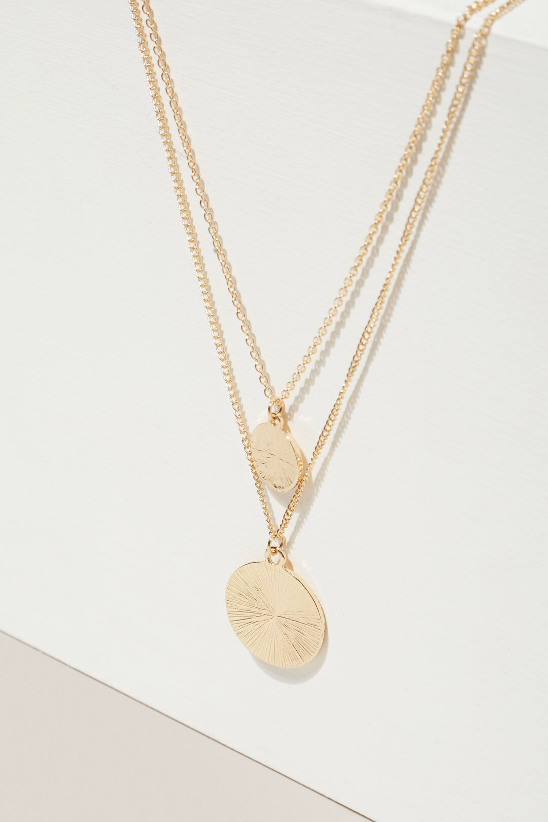 Coin Charm Necklace  GOLD  hi-res