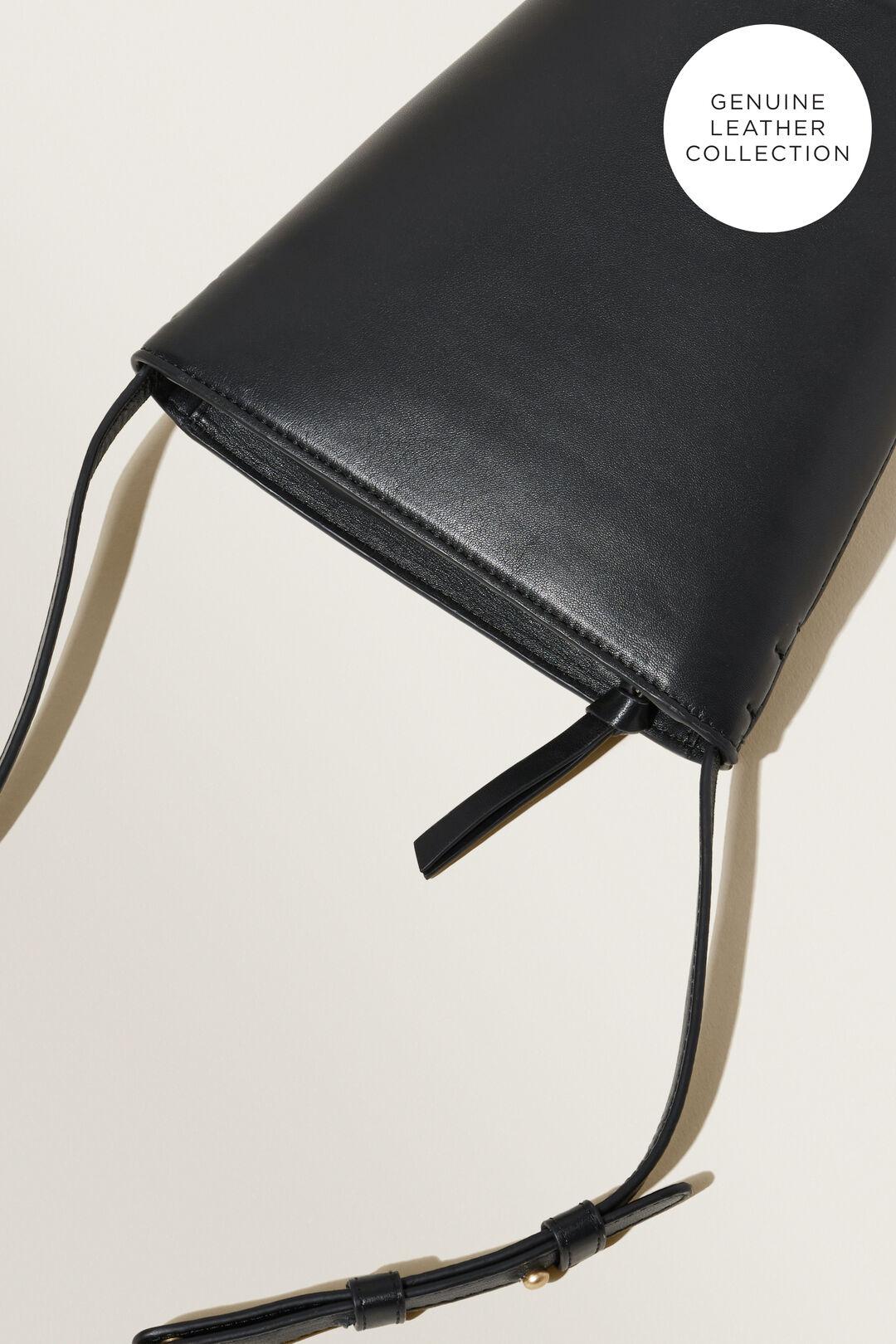 Mini Leather Bucket Bag  BLACK  hi-res